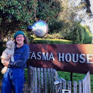 Adrian Kosky and Miss Jelly Bean at Tasma House