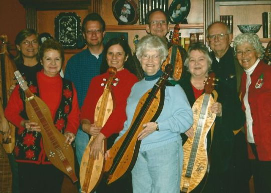 The Memphis Area Mountain Dulcimer Club at my house in Germantown, Tennessee. 2006