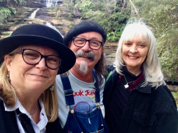 Carla Maxwell, Adrian Kosky, and Anne Bowman in Leura, New South Wales, Australia, September 2018
