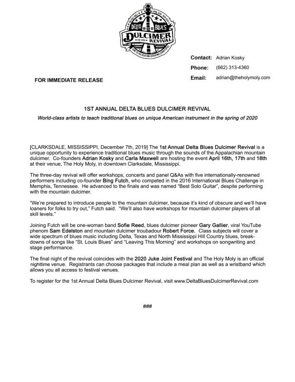 DBDR Press Release